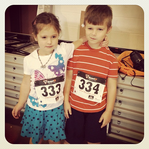 Their first race! Tot Trot :)