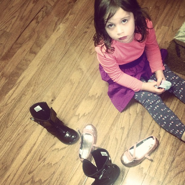 Which shoes? What's a girl to do??