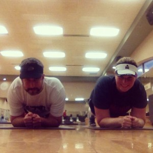 Dueling planks. #fitfluential #plankaday