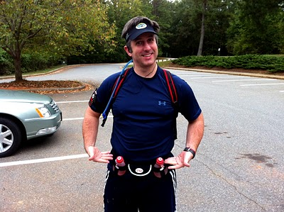 The Expert on a long run... that would be a Fuel Belt and a Camelbak. Dude.