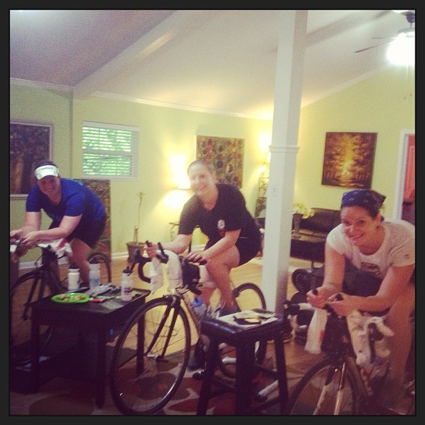 Bike trainer party.